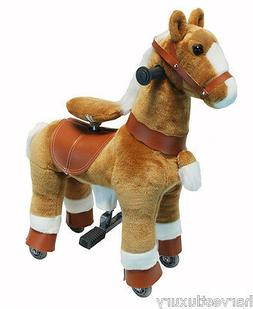"""30"""" Giddy Up Horse Ride On  SMALL ''BEIGE/WHITE""""  Ages 2-5"""