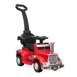 Best Ride On Cars 4-in-1 18 Wheeler Baby Push Car Stroller w