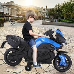 Kids 4 Wheel Electric Motorcycle Car 6V Bike Battery Powered