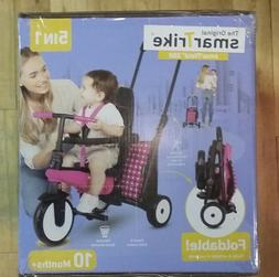 SmarTrike 5 in 1 Pink Folding Ride On Tricycle smarTfold 300