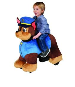 6 Volt Plush Paw Patrol Ride On with Pup House - Chase/Marsh