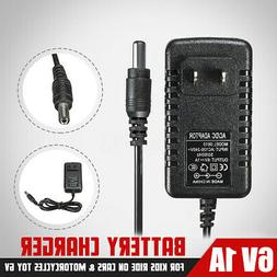 6V 1A Battery Charger Adapter AC/DC Powered For Kids ATV Qua