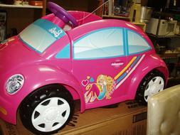 6V Barbie Pink Ride On VW Beetle Power Wheels Battery & Char