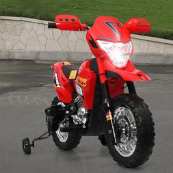 6V Kids Ride On Motorcycle  Battery Powered Electric Toy W/T