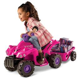 Huffy 6V Quad Trailer Ride on Toy for Kids, Pink NEW