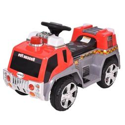 6V Ride On Rescue Fire Truck Toy Birthday Party Game For Boy