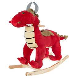 Happy Trails Rocking Animal Toy- Kids Ride on Plush Stuffed