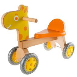 Happy Trails Walk and Ride Wooden Giraffe-Balance Bike for T