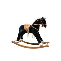 Alexander Taron Large Black and White Rocking Horse with Sou