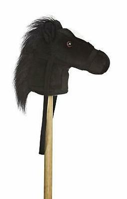 "Aurora World World Giddy-Up Stick Horse 37"" Plush, Black"