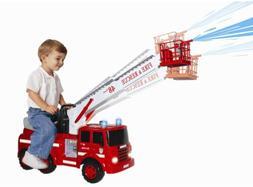 Fire Truck Ride On For Kids Engine Children Toy Boys Big Squ