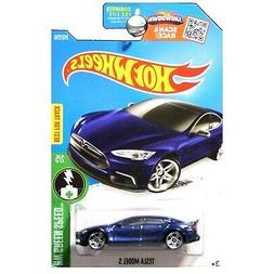 Hot Wheels 2016HW Green Speed Tesla Model S 242/250, Blue