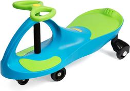 Plasmart Aqua Blue/Lime Green Plasma Car Ride On