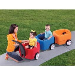 Step2 Push Wagons for Toddlers with Long Handle, Seat Belts