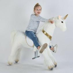 "UFREE Action Pony Ride on Toy Horse 44""Large, 6-Adult, Unico"