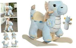 - Baby Rocking Horse, Child Blue Winged Dragon Rocker, Toddl