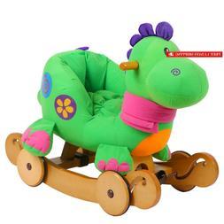 Labebe - Baby Rocking Horse, Dinosaur Ride On Toy, Kid Green