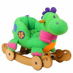 Labebe Baby Rocking Horse, Dinosaur Ride On Toy, Kid Green D