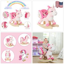 labebe - Baby Rocking Horse, Pink Ride Unicorn, Kid Ride On