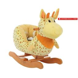 baby rocking horse plush baby rocker ride