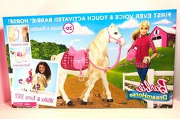Barbie Dream Horse & Blonde Barbie Doll Voice & Touch Activa