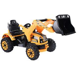 Costzon 12V Battery Powered Kids Ride On Excavator Truck wit