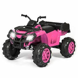 BCP 12V Kids ATV 4-Wheel Ride-On Car w/ 2 Speeds, MP3, Stora