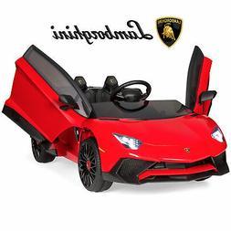 BCP 12V Kids Ride-On Lamborghini Aventador SV Sports Car Toy