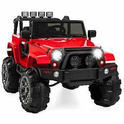 BCP 12V Kids Ride-On Truck Car Toy w/ 3 Speeds, LED Lights,