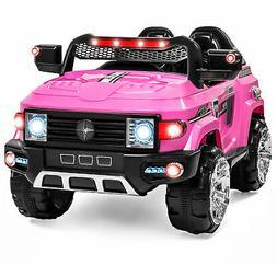 BCP 12V Kids Truck SUV Ride-On Car w/ 2 Speeds, Lights, AUX