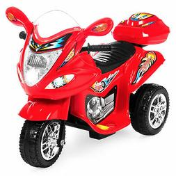BCP 6V Kids 3-Wheel Motorcycle Ride-On Toy w/ LED Lights, Mu