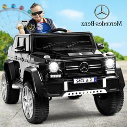 Black 12V Electric Kids Ride On Car Mercedes Benz Wheel Remo