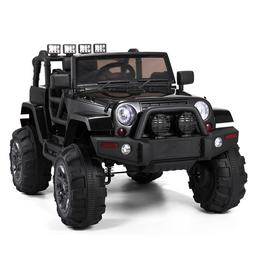 Black Kids Ride On Car Truck Battery Powered Electric Car wI