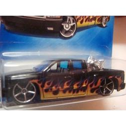 Hot Wheels Black With Flames Chevy Silverado Pick Up Truck W
