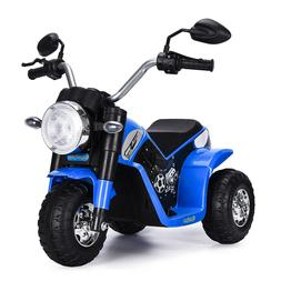 Blue 6V Toy Battery Powered Electric Kids Ride On Motorcycle