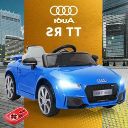 Blue Audi TT 12V Electric Kids Ride on Car Licensed Battery