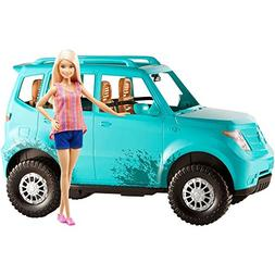 Barbie Camping Fun Doll and Vehicle Seats 4 Friends