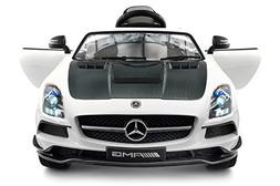 Carbon White SLS AMG Mercedes Benz Car for Kids, 12V Powered