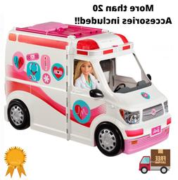 Barbie Ambulance Care Clinic 2-in-1 Fun Playset for Ages 3Y+