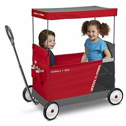 Radio Flyer Kid & Cargo with Canopy, Folding Wagon with 2 Ve