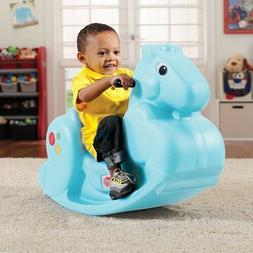 Step2 Carousel Pony Ride-On Toy Rocking Horse Blue Fun Play
