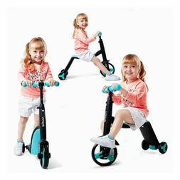 Kids Children Scooter Tricycle Baby 3 In 1 Balance Bike Ride