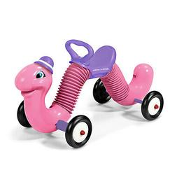 "Radio Flyer Classic Pink 34"" Long Inchworm Bounce and Go Rid"