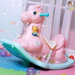 Cute Plastic Animals Rocking Horse <font><b>Musical</b></fon