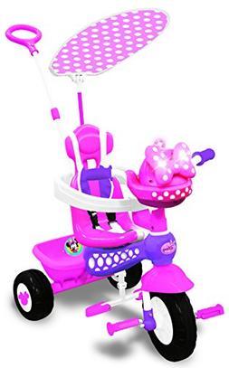 Disney Minnie Mouse Push N Ride Trike Toddler Baby Bike Ride