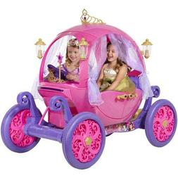 Disney Princess Carriage Ride-On with Light and Sound Effect