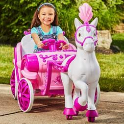 Huffy Disney Princess Ride On Toy Kids Royal Horse Carriage