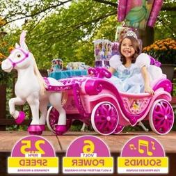 Disney Princess Royal Horse and Carriage Girls Ride-On Toy b
