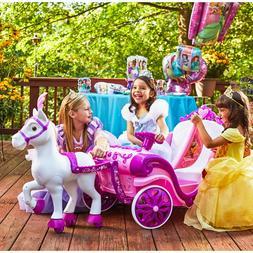 Disney Princess Royal Horse and Carriage Girls 6V Ride-On To