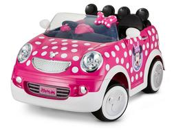 Disney's Minnie Mouse Hot Rod Coupe, 12-Volt Ride-On Working